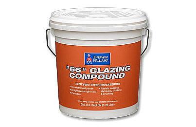 Tube-style glazing compound