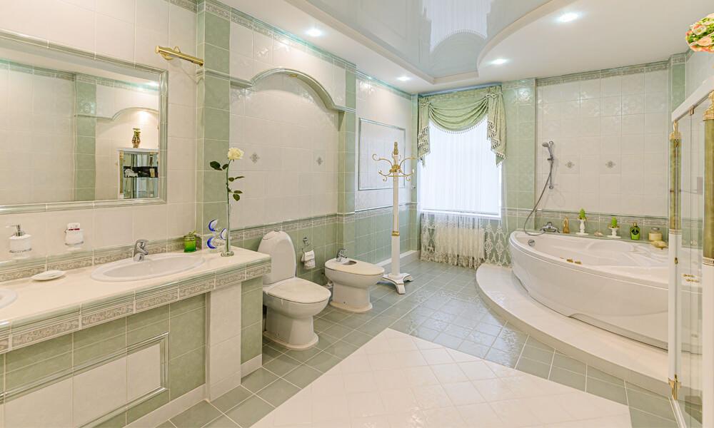 Large Green Bathroom
