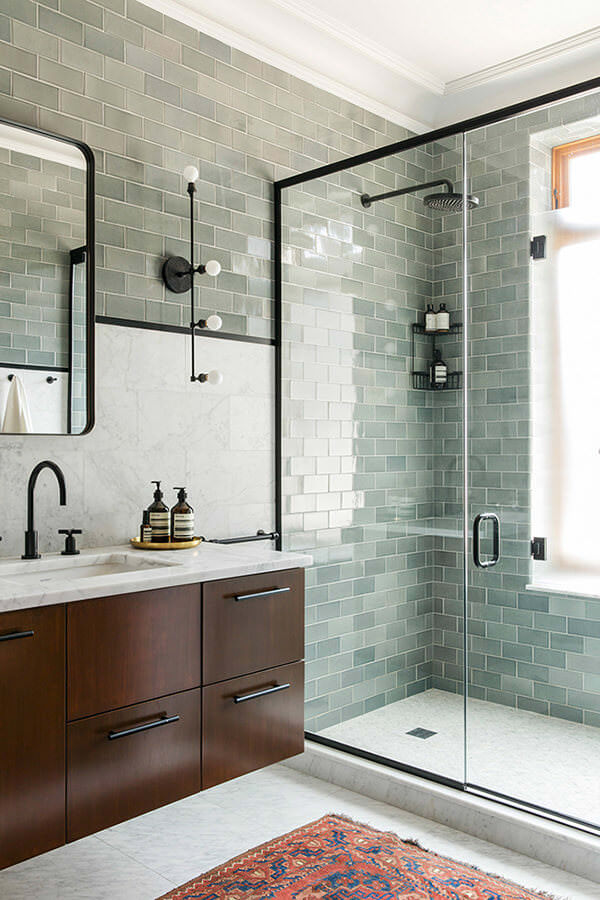 Sea Green Bathroom Tiles