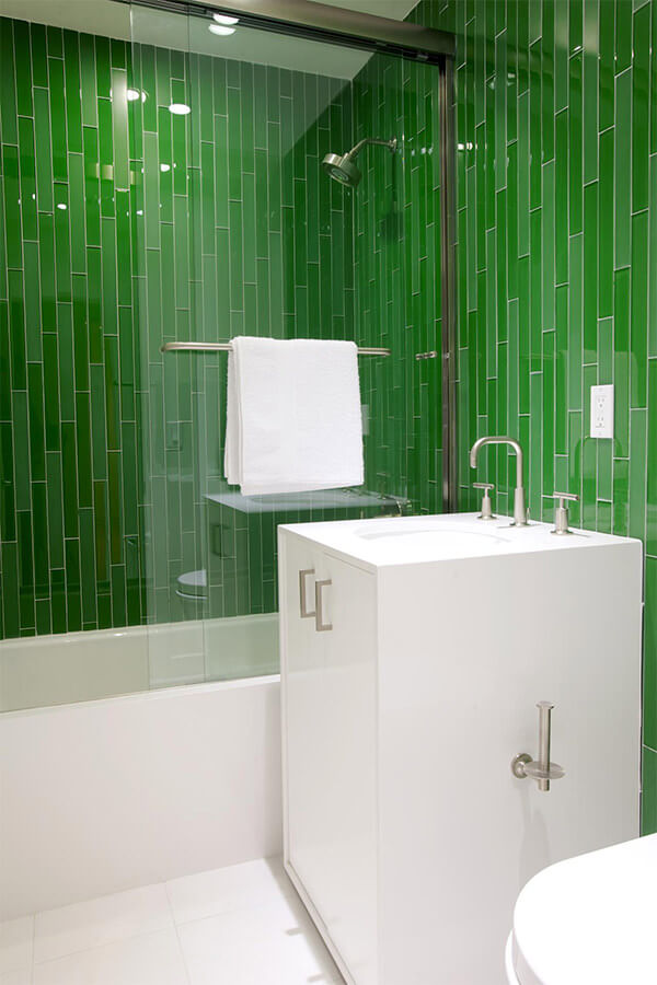 Deep Green Bathroom Tiles