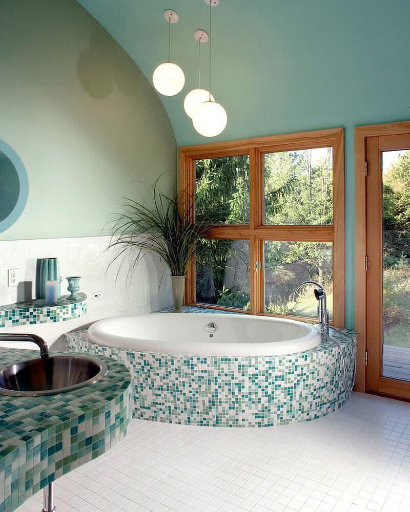 Green Tiled Bathrooms