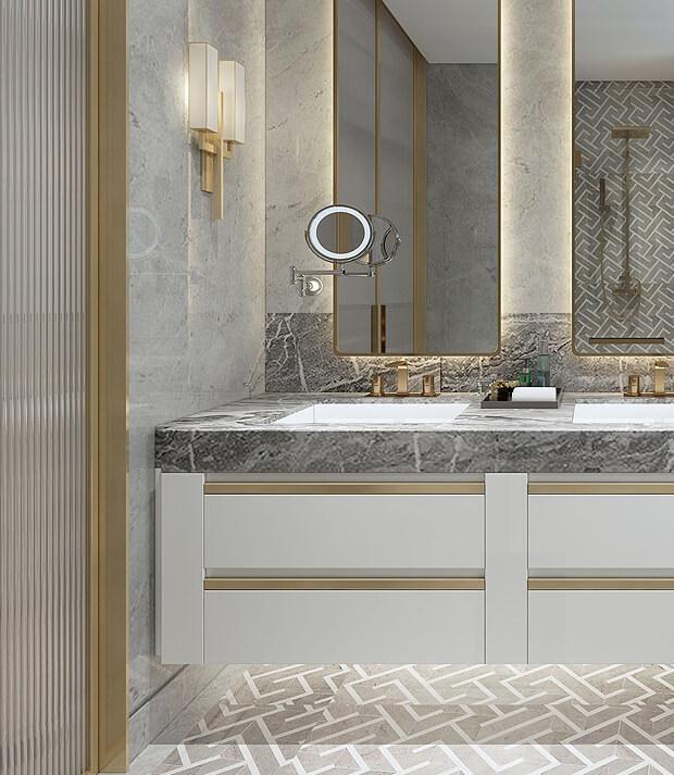 Luxurious Grey Bathrooms