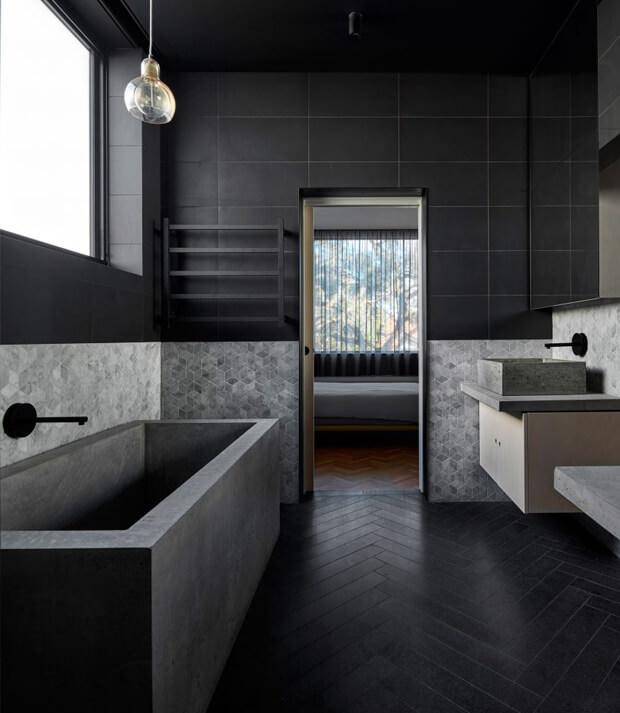 Dark Grey & Light Grey Bathroom