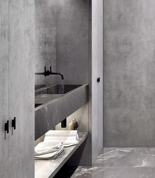 Complete Grey Washroom