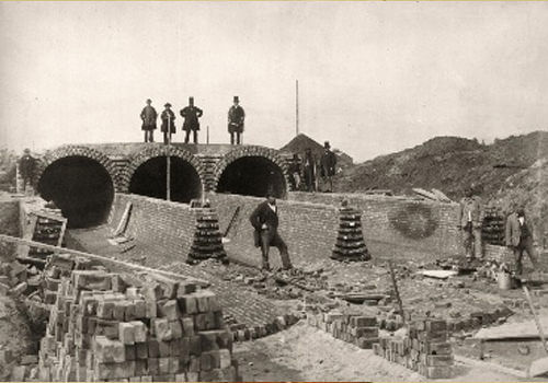 first sewer system