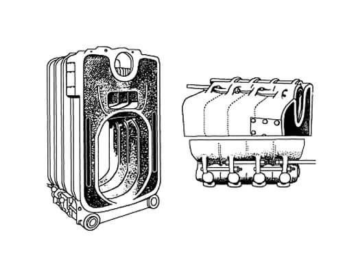 Cast iron boilers