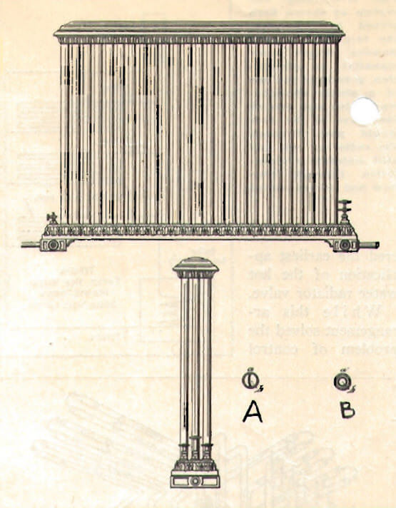 vertical tubes radiator