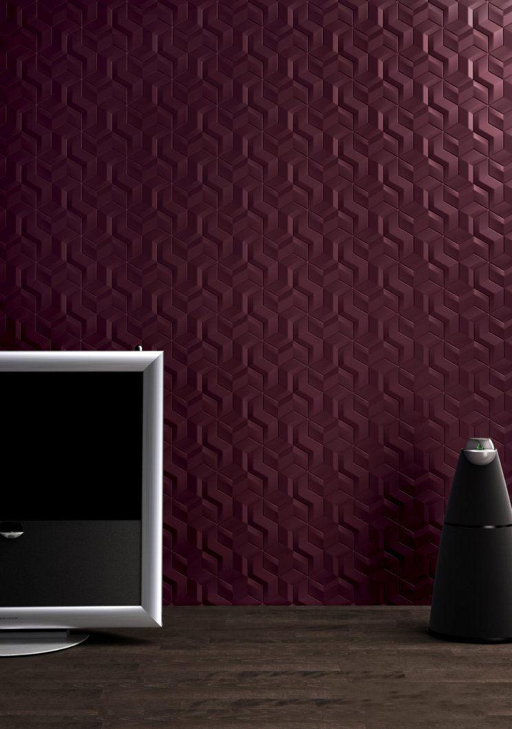 Maroon Magic In Ceramic Tile