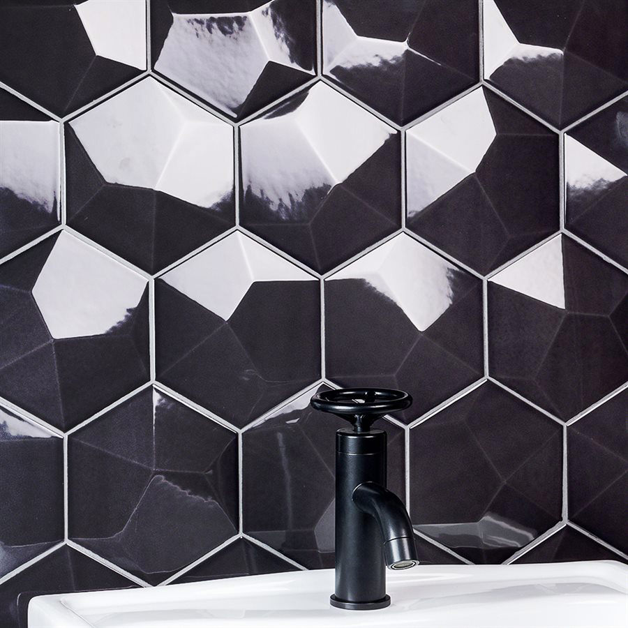 Hexagonal Mosaic Tiles
