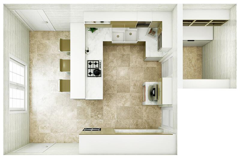 Kitchen Layout 13