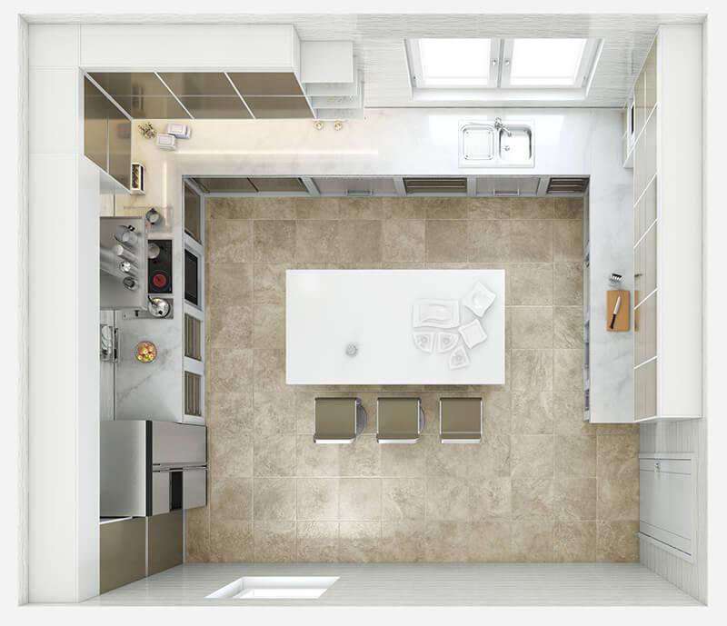 Kitchen Layout 14