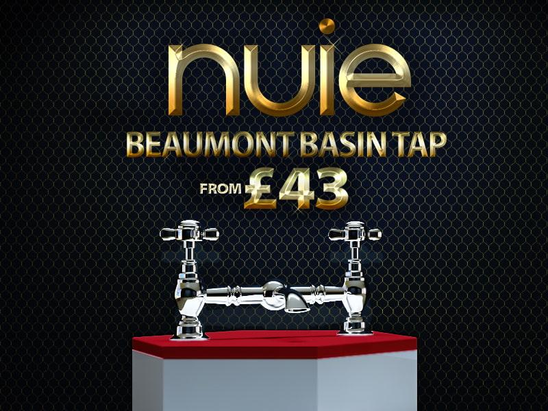 Nuie Beaumont Luxury Bridge Basin Mixer Tap - I315X