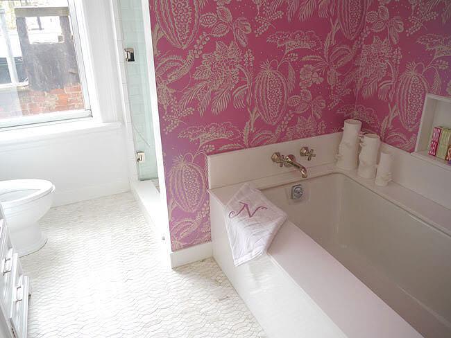 Pink Bathroom Wallpaper Decor