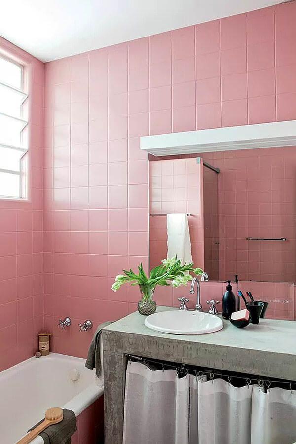 Clean Pink Bathroom