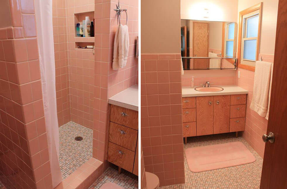 Dark Pink Bathroom