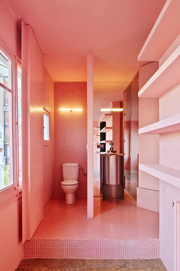 Pink Chequered Tiles