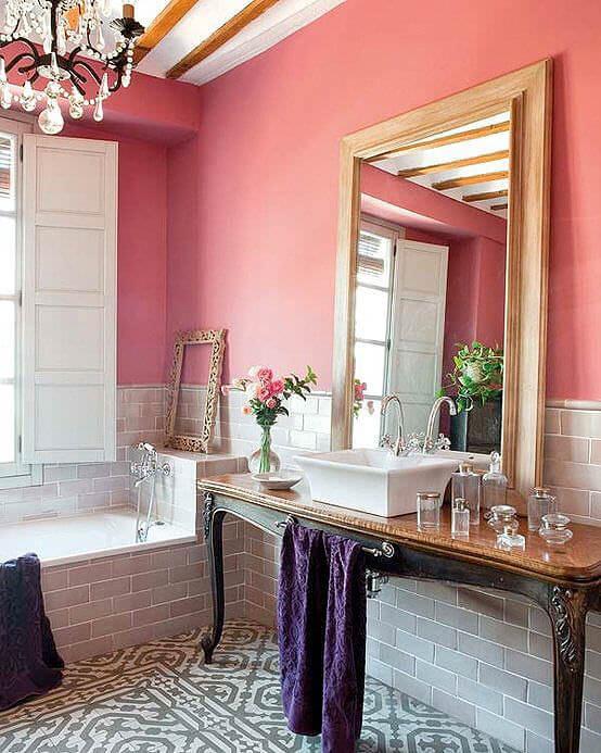 Baby Pink Bathroom Decor
