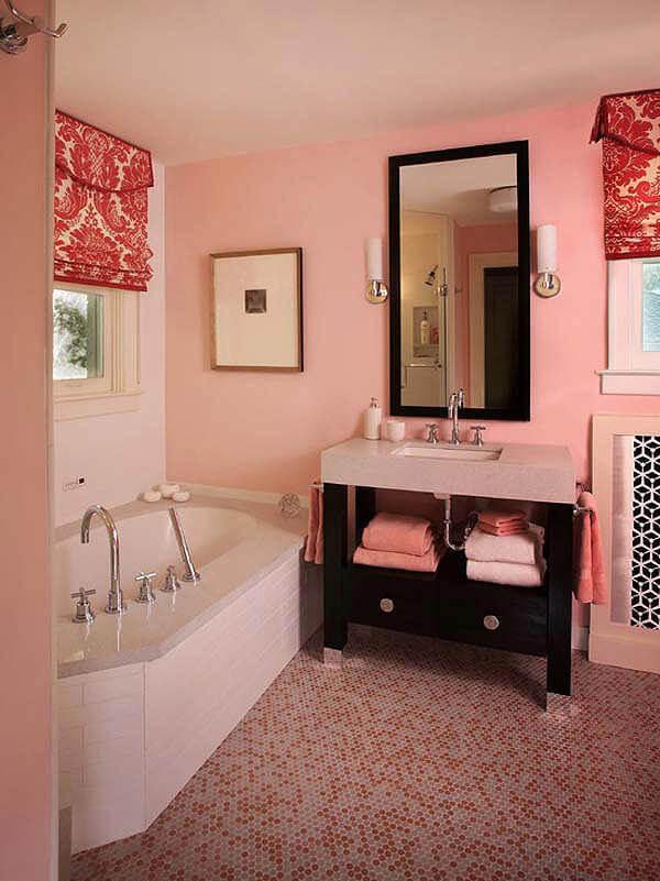 Subtle Pink Bathroom