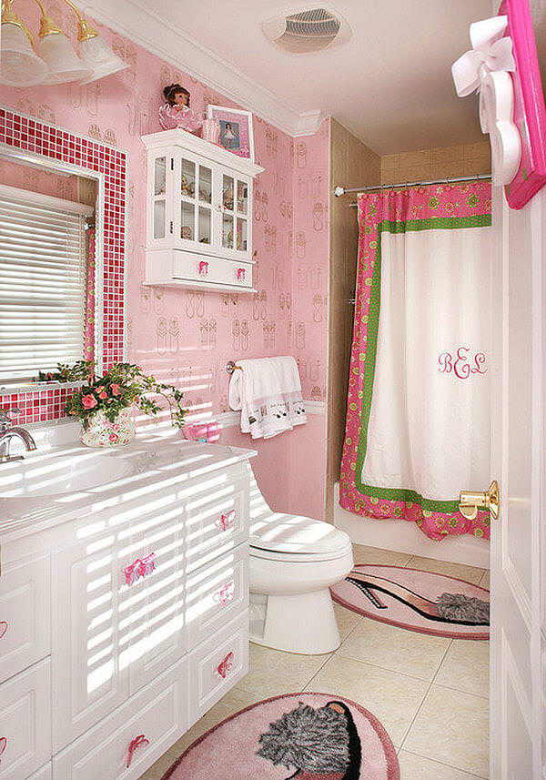 Pink Tiles with Pink Mats