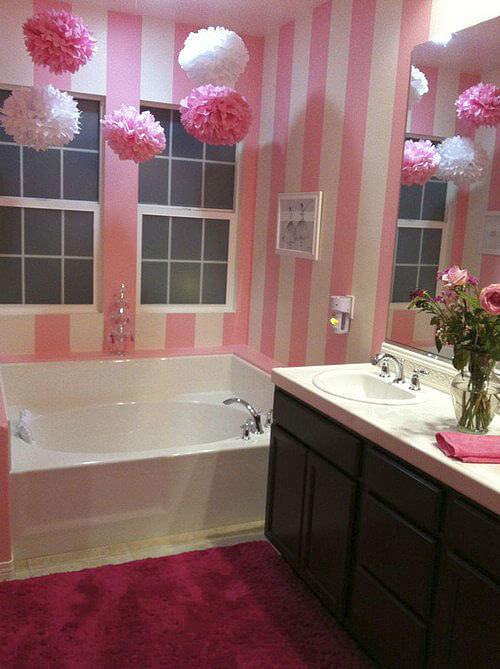 Pink & White Decorative Bathroom Decor