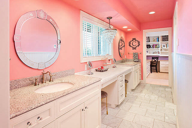 Dusty Pink Bathroom Decor