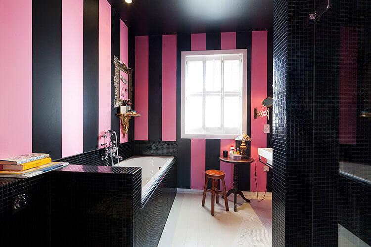Pink & Black Bathroom