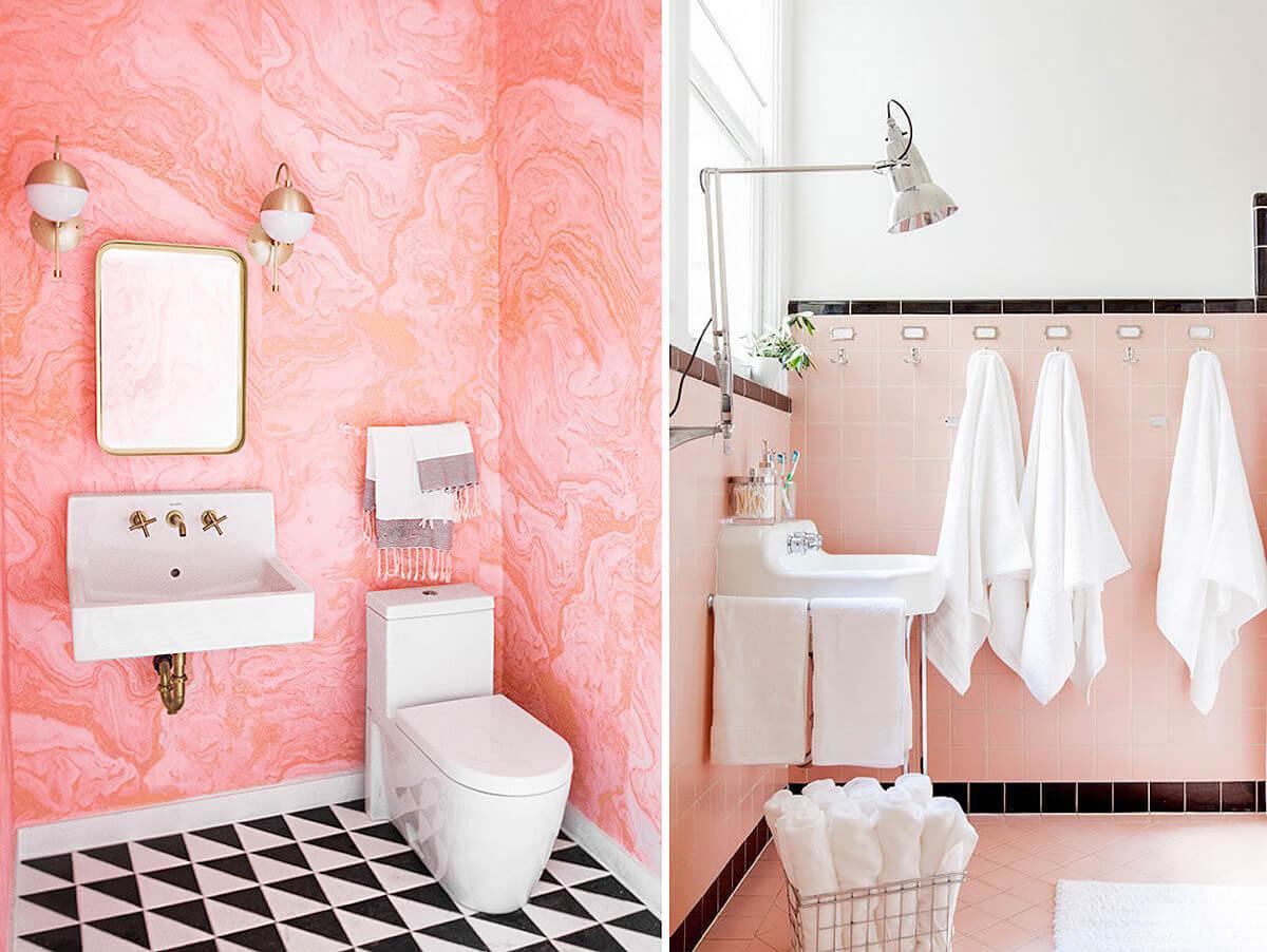 Pink Bathroom Shade