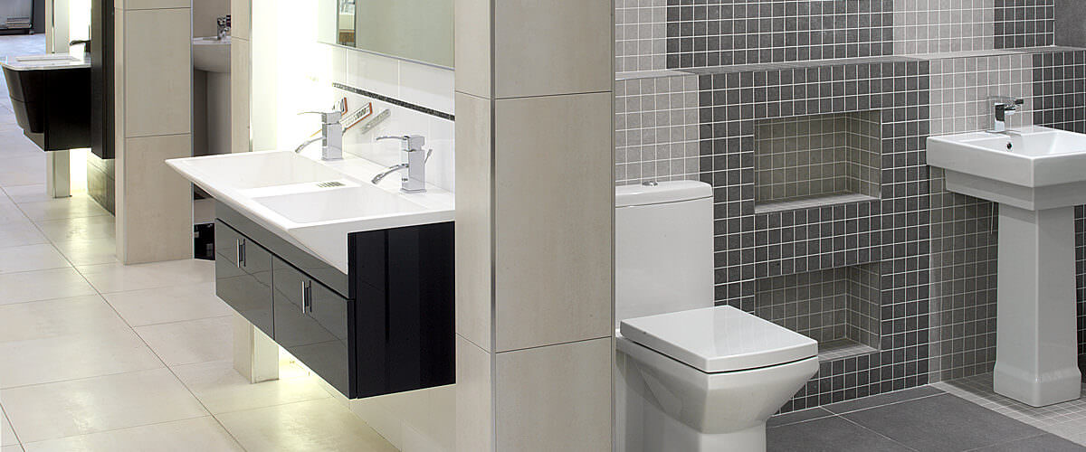 Bathroom Showroom of QS Supplies - Leicester - UK