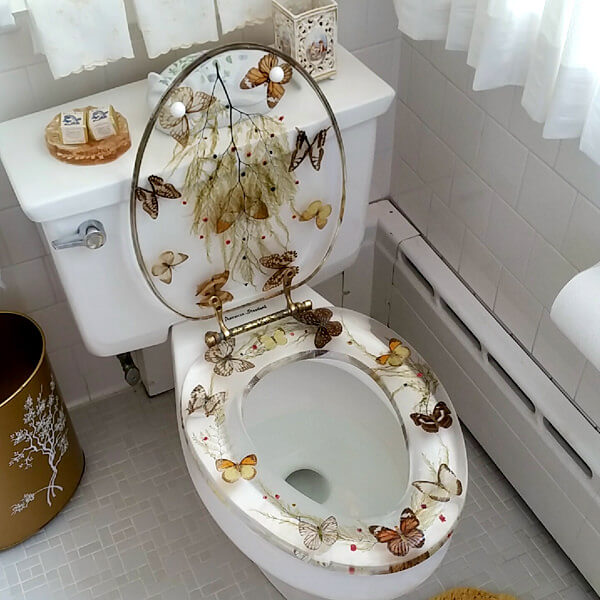 Transparent Butterfly Toilet Seat