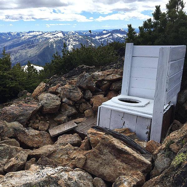Mountain Top Toilet