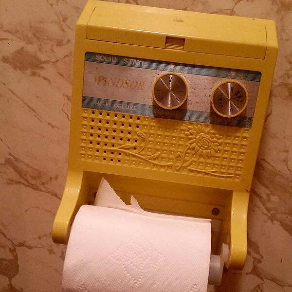 Radio In Toilet